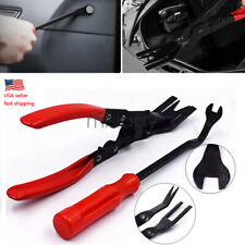 2 PC Car Door Panel Clips Pliers Trim Removal Fastener Puller Repair Tool Combo