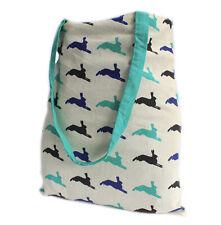 Cotton Tote Bag Rabbit Hare Print Reversible Eco Shopping Bag