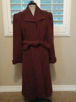 Vintage Burgandy wine Wool Montgomery ward Coat