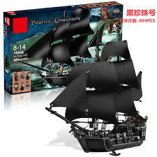 Black Pearl pirate ship Pirates of the Caribbean Building Toys 804pcs 16006