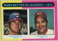 1975 Topps Mini #308 RBI Leaders NM+ Johnny Bench Cincinnati Reds Free Shipping