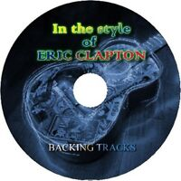 ERIC CLAPTON IN THE STYLE OF GUITAR BACKING TRACKS AUDIO CD BEST GREATEST HITS