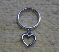 James Avery 925 Sterling Silver Open Wire Heart Charm Dangle Ring Size 5.5