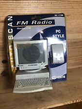 PC Style FM Radio Computer Mouse Auto-scan RC 173B Curtis New! Retro 1980s