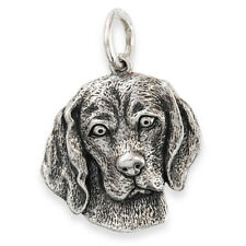 More details for solid sterling silver beagle dog pendant (handmade uk, also in gold)