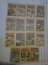REDUCED 14 x Vintage Victor and Hotspur Comics 1980 and 1981
