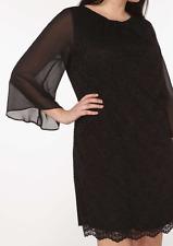 Black Lace Kimono Sleeves Dress UK 20 Billie & Blossom Curve Occasion Party BNWT