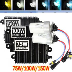 75W/100W/150W H1 H3 H4 H7 H8 H11 9005/6 Car HID Xenon Headlight Bulbs & Ballasts