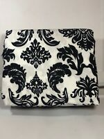 Black And White Scroll Full Sheet Set 4pc NEW Sheets Microfiber - King