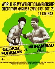 MUHAMMAD ALI GEORGE FOREMAN HEAVYWEIGHT CHAMPIOSHIP 8X10 POSTER GLOSSY ZAIRE