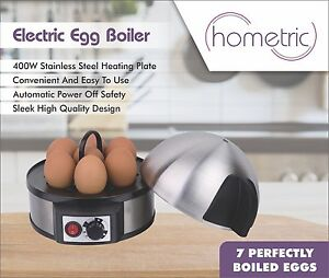Egg Boiler Cooker Steamer Electric Boiled 7 Eggs Maker Vegetable Steamer 400W UK