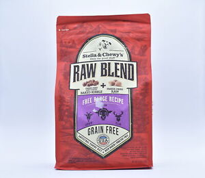 Stella & Chewy Raw Blend Free Range Dry Dog Food Lamb/Elk/Goat, 3.5lb EXP:12/21