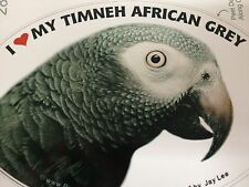 ON SALE! Timneh African Grey Parrot Exotic Bird Vinyl Decal Bumper Sticker