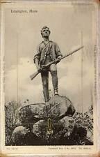 1905 LEXINGTON MA 12 views Foldout Rotograph Revolutional War postcard