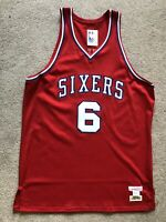 Authentic Julius Erving Dr J Mitchell & Ness 1982-83 76ers Jersey Size 48