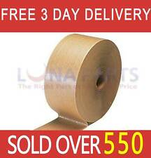 "1 Roll 3"" x 600' Reinforced Brown Kraft Gum Adhesive Tape Industrial Grade"