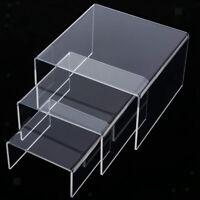 Clear high medium low profil set von 3 acryl-riser-ausstellungs regale