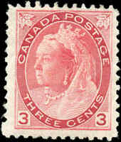 1898 Mint H Canada F Scott #78 3c Queen Victoria Numeral Issue Stamp