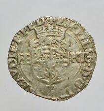 SAVOIA - TORINO - EMANUELE FILIBERTO 1559-1580 -AG/ BIANCO 1576