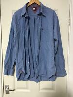 Tommy Hilfiger Blue Casual Shirt Size XL Mens Long Sleeve Great Condition (D790)