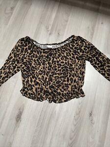 H&M Bluse Leopardenmuster Größe XS