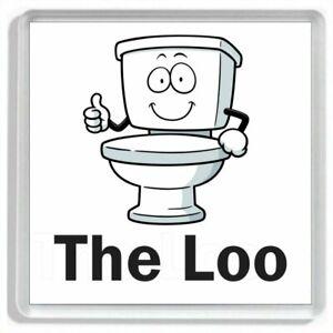 """THE LOO"" SMILING LOO Novelty Acrylic Toilet Door Sign"