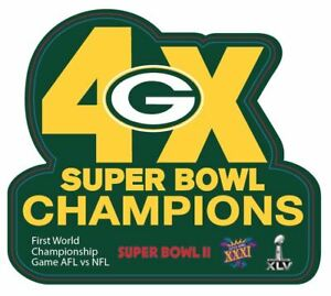 GREEN BAY PACKERS CHAMPIONS PIN SUPERBOWL 4X CHAMPS PIN NFL SUPER BOWL FAVRE