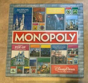 Monopoly Disney Parks Theme Park Edition Board Game Pop Up Castle NEW Sealed