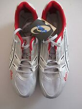 **New With TagAsics GN214 HyperPower Men's Size:13 Silver/Red/Navy Track Spikess