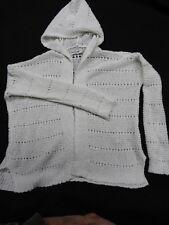Abercrombie Kids - Girls Hooded Cardigan Sweater - S/10 - White  - EUC