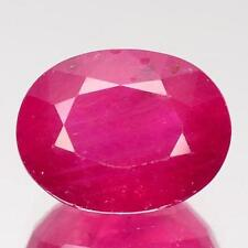 Heating Oval Transparent Loose Natural Rubies