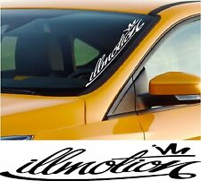 Illmotion Windscreen Sticker Car VolkswagenVauxhall Jaguar Bumper Decal m122