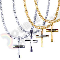 Men/'s Stainless Steel Necklace Eye of Horus Egyptian Vintage Cuban Chain#P110