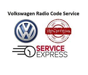 VW radio Code RCD510 RCD 315 RCD310 PIN Beta Gamma