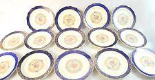 Vintage Madam Du Barry Royal Blue 22K Gold Dinner Plates By Stetson