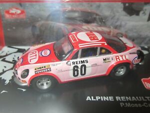 ALTAYA, 1:43 Scale ALPINE RENAULT A110 1600s, Pat Moss, MONTE CARLO RALLY 1972