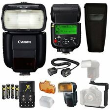 Canon Speedlite 430EX III-RT Flash + Canon Speedlite Case + More.....