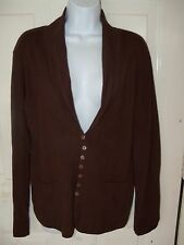 H&M Brown Button Down Cardigan Size Large Women's NWOT FREE USA SHIPPING