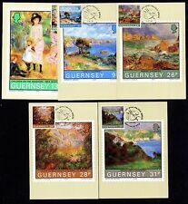 Guernesey 269/73 maximum Cartes Visite Pierre-Auguste RENOIR sur Guernesey