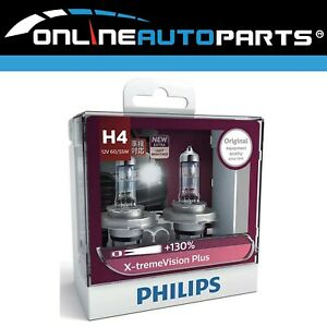 Philips H4 Headlight Globes X-treme Vision Plus 130% suits Various Nissan
