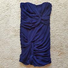 GA/51 Ladies MISO Bodycon Dress Navy Blue Evening Strapless Bustier Size 8 VGC
