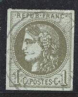 n°39B Bordeaux Cérès 1c Report 2 oblitéré CÀD TB timbre classique 1870