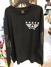 NWT ENYCE MEN'S DESIGNER BLACK SWEATSHIRT 4XL XXXXL MENS BIG AND TALL Leather