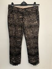 Alexis Black lace pants with sequins lace bottoms size S retail $584