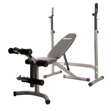 Body Champ Olympic Weight Bench with Leg Developer, Gray/Silver