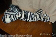 "Disney World Zebra Plush Stuffed Animal Kingdom Floppy Bean Bag 16"""