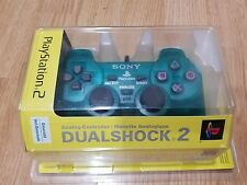 NEW RARE Sony Playstation2 Emerald Dualshock 2 Analog Controller-PS2