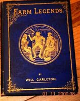 Farm Legends by Will Carleton vintage 1875 Harper & Bros - BEAUTIFUL! 1st ED