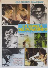 La semilla del Tamarindo  -- Cartel de Cine Original --