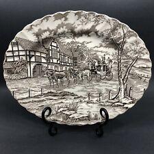 Vintage Ironstone Myott Royal Mail Staffordshire England Coaching Oval Platter